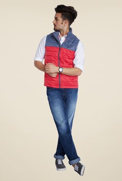 Parx Red Quilted Jacket