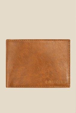 Laurels Aspire Tan Solid Leather Wallet