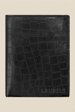 Laurels Englishmen Black Textured Wallet