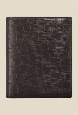 Laurels Englishmen Brown Textured Wallet