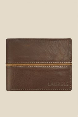 Laurels Raider Brown Solid Leather Wallet