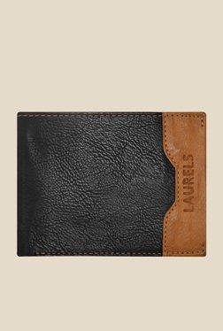 Laurels Tusk Black Leather Wallet