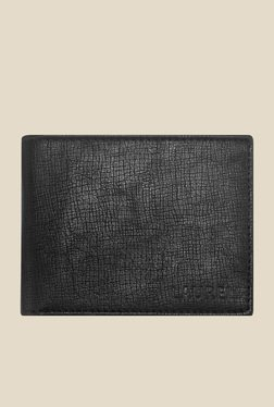 Laurels Cross Black Textured Wallet