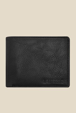 Laurels Urbane Black Solid Wallet