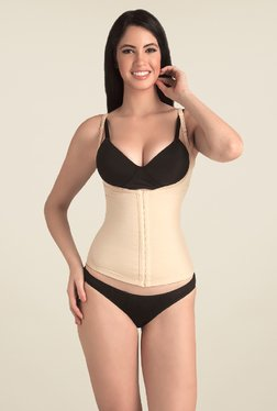 Swee Pearl Open Bust Tummy Cincher Nude Solid Shapewear