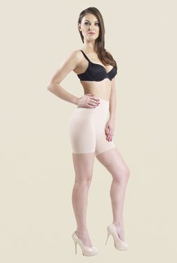 Swee Iris Low Waist & Short Thigh Nude Solid Shapewear