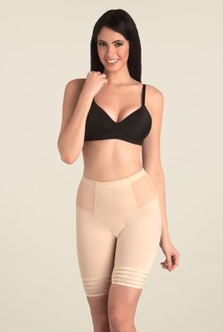 Swee Jade Low Waist & Short Thigh Nude Solid Shapewear