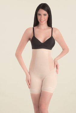 Swee Coral High Waist & Short Thigh Nude Solid Shapewear