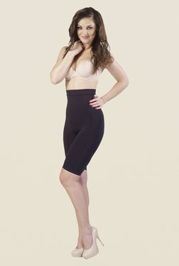 Swee Glory High Waist & Full Thigh Black Solid Shapewear