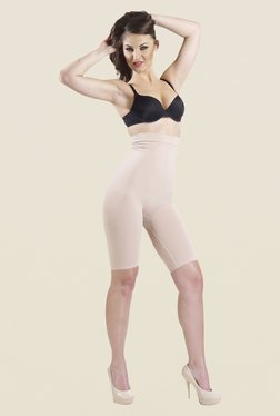 Swee Glory High Waist & Full Thigh Nude Solid Shapewear