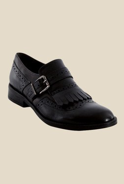 Salt 'n' Pepper Black & Vulcane Brogue Shoes