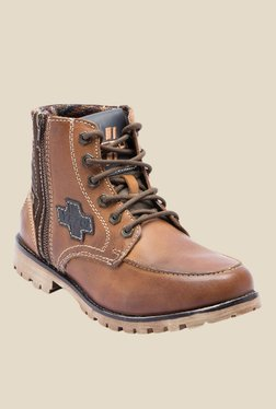 Yezdi Dark Tan Casual Boots