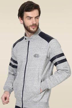 Octave Light Grey Solid Regular Fit Sweatshirt