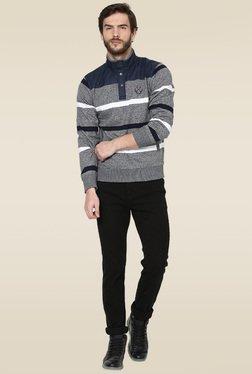 Octave Grey Color Block Sweatshirt
