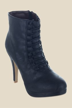 Shuz Touch Black Stiletto Heeled Booties