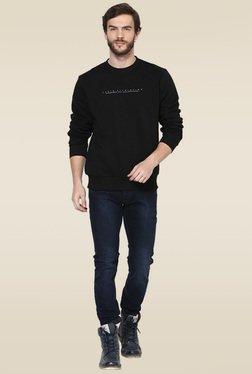 Octave Black Round Neck Sweatshirt