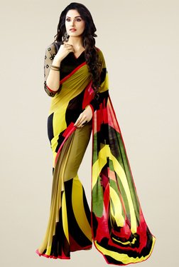 Saree Mall Multicolor Printed Saree With Blouse - Mp000000000903840