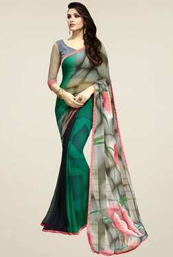 Saree Mall Multicolor Floral Printed Saree With Blouse