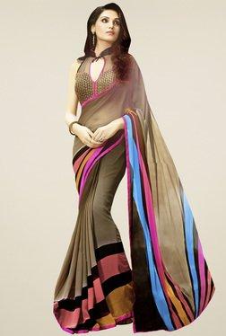 Saree Mall Multicolor Striped Saree With Blouse