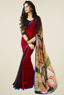 Saree Mall Multicolor Floral Printed Saree