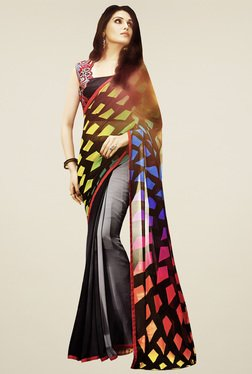 Saree Mall Multicolor Geometric Printed Saree With Blouse