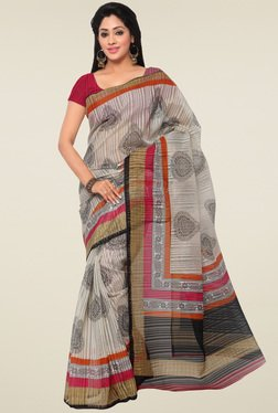 Saree Mall Beige Saree With Blouse