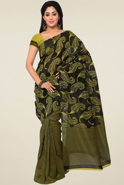 Saree Mall Green Saree With Blouse