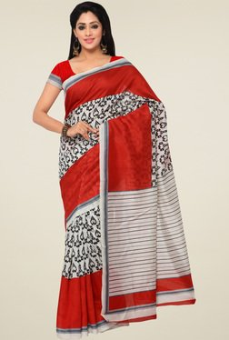Saree Mall Red Saree With Blouse