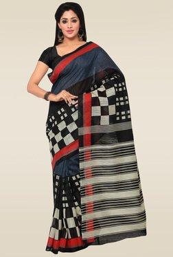 Saree Mall Black Art Silk Saree