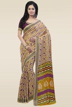 Saree Mall Multicolor Paisley Print Pashmina Silk Saree