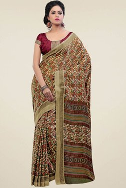 Saree Mall Beige Pashmina Silk Saree