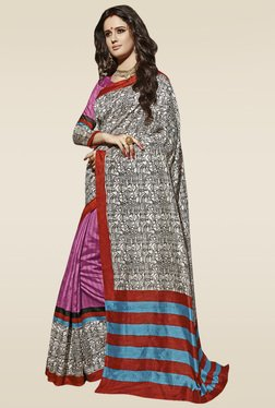 Saree Mall Multicolor Printed Saree With Blouse - Mp000000000904136
