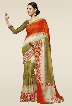 Saree Mall Multicolor Pashmina Silk Saree With Blouse