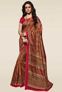 Saree Mall Multicolor Paisley Printed Saree With Blouse