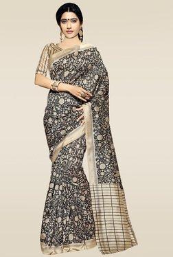 Saree Mall Black & Gold Printed Saree