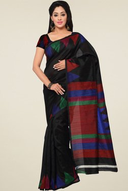 Saree Mall Black Printed Art Silk Saree