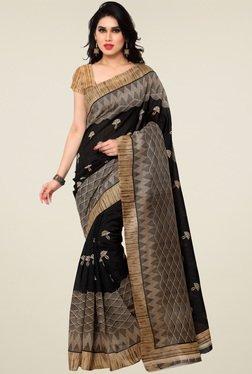 Saree Mall Black & Beige Art Silk Saree