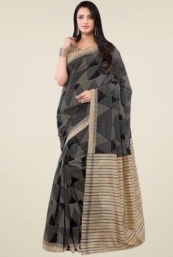 Saree Mall Black & Beige Printed Saree