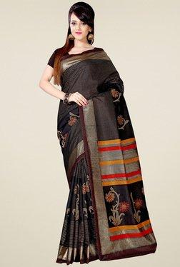 Saree Mall Black Art Silk Printed Saree