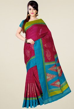Saree Mall Pink Art Silk Printed Saree