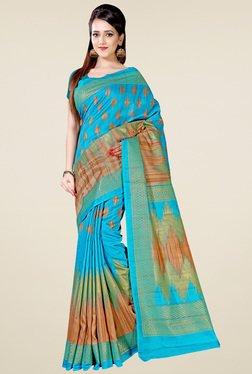 Saree Mall Sea Green Art Silk Printed Saree
