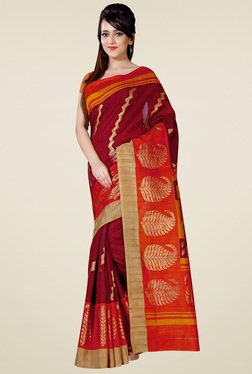 Saree Mall Brown Art Silk Printed Saree