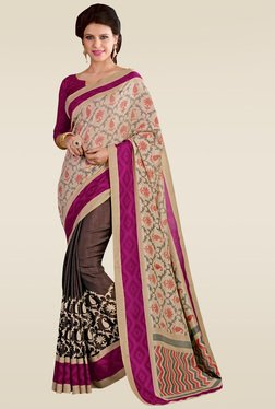 Saree Mall Beige Manipuri Silk Printed Saree