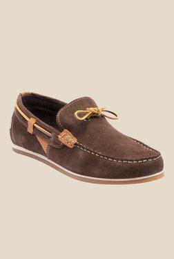 Yezdi Dark Brown Boat Shoes