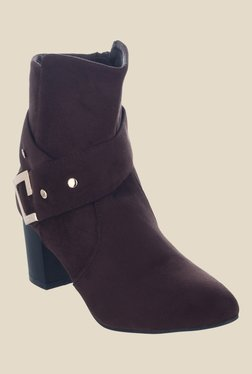 Shuz Touch Dark Brown Casual Booties