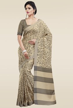 Saree Mall Beige Art Silk Saree