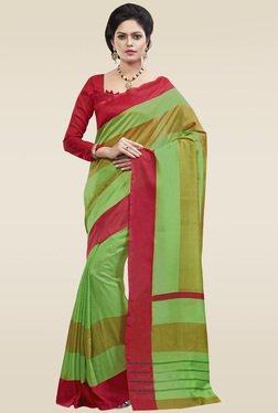 Saree Mall Green Art Silk Saree