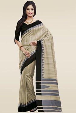 Saree Mall Beige Printed Fancy Art Silk Saree