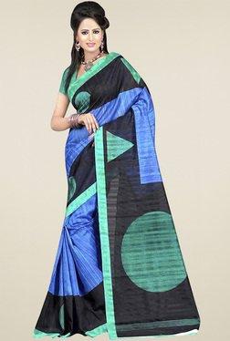 Ethnic Basket Multicolor Bhagalpuri Silk Saree With Blouse