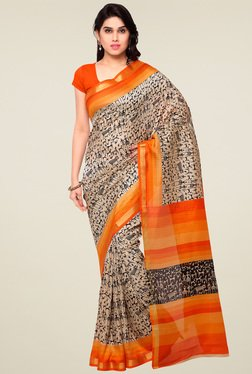 Saree Mall Cream Pashmina Silk Saree